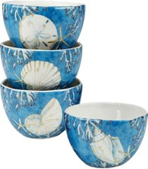 playa shells set of 4 ice cream bowl