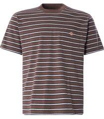 danton pocket tee   brown/black   jd-9041