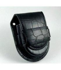 skórzana sakiewka na zegarek - szlufka
