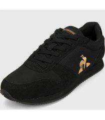 tenis lifestyle negro-dorado le coq sportif matrix patent
