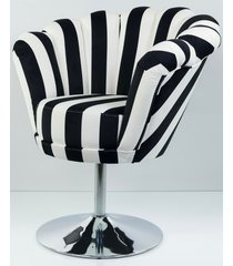 fotel czarno białe pasy tapicerowany fu-100