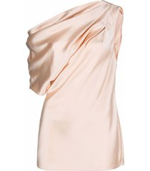 acler bonham one-shoulder top - pink