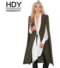 2017 pocket cape trench coat duster coat longline cloak poncho coat size s-2xl