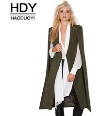 2017 pocket cape trench coat duster coat longline cloak poncho coat size s-2xl