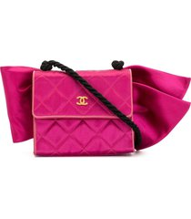 chanel pre-owned mini bow motif shoulder bag - pink