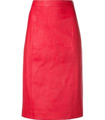 joseph high-rise pencil skirt - red