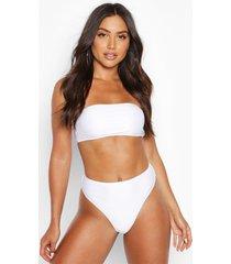 mix & match bandeau bikini top, white