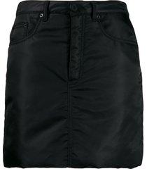 mm6 maison margiela padded straight skirt - black