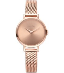 rumbatime hudson weave rose gold mesh watch