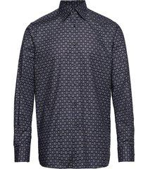 navy medallion print - contemporary fit skjorta casual blå eton