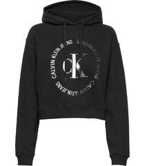round ck blocked ho hoodie svart calvin klein jeans