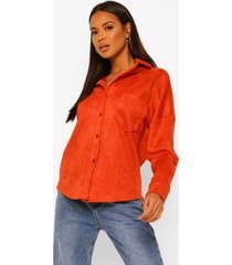 nep suède blouse, orange