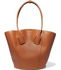 basket leather tote