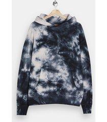 mens multi black and ecru tie dye hoodie