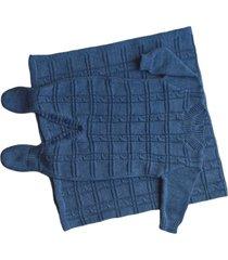 conjunto manta e macacão londres passion tricot jeans mescla