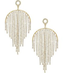 ettika crystal elegance fringe earrings