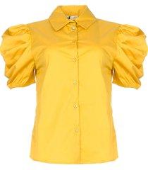 poplin blouse purca  geel