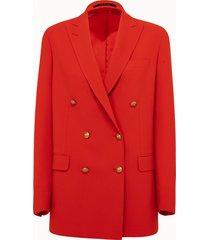tagliatore giacca doppiopetto rossa