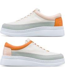 camper twins, sneaker donna, bianco/grigio/arancione, misura 42 (eu), k201114-001