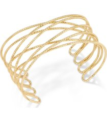 inc gold-tone crisscross cuff bracelet, created for macy's