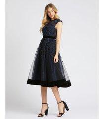 mac duggal a-line embellished dress
