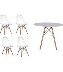 conjunto mesa de jantar impã©rio brazil - branco/incolor - dafiti