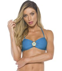 top lybethras jewel azul turquesa