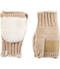 isotoner signature women's acrylic knit flip-top mittens
