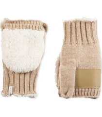 isotoner signature women's acrylic knit flip-top mittens