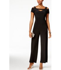 nightway petite cutout wide-leg jumpsuit