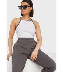 calvin klein jeans logo trim tank top linnen