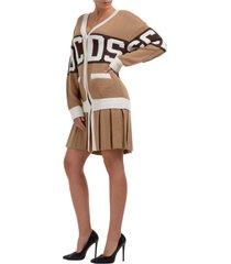 vestito abito donna al ginocchio manica lunga logo