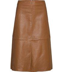 2nd marvin knälång kjol brun 2ndday