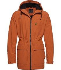micro fleece lined jacket parka jas oranje lyle & scott