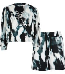 river island boys black ri active tie dye sweat outfit