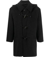a.n.g.e.l.o. vintage cult 1990s tartan hood duffle coat - grey