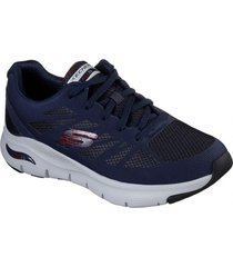zapatilla  arch fit - charge back azul skechers