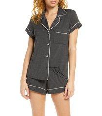 women's eberjey 'gisele' shorty pajamas, size x-large - green