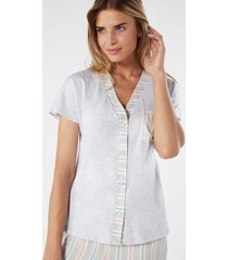 camicia flower stripes in supima