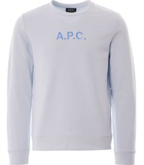 a.p.c. stamp sweatshirt | blue | h27580-iab