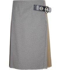marni side buckle pleated skirt