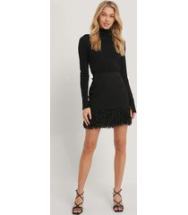 na-kd party kjol i läderimitation - black