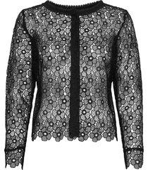 3177 - valentine blouse lange mouwen zwart sand