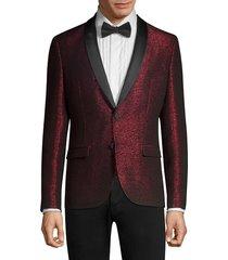 hugo men's arti extra slim-fit sparkle jacket - red - size 36 r