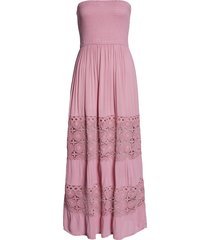 women's chelsea28 farrah smocked cover-up maxi dress, size x-large - pink