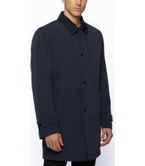 boss men's recycled-fabric overcoat