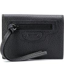 balenciaga neo classic mini wallet - black