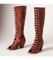 women's frye izzy belted tall sandals