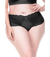calcinha sempre sensual lingerie retrô preto - kanui