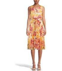 inc floral-print pleated midi dress, created for macy's
